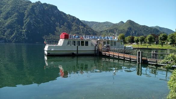 Boat on Lake Idro